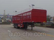 鲁旭达牌LZC9400CCYE型仓栅式运输半挂车