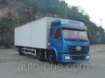 FAW Liute Shenli LZT5251XPYPK2E3L10T3A95 cabover box van truck with soft canopy top