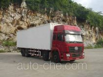 Cabover box van truck with soft canopy top