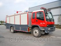 Dry carbon dioxide combined fire engine
