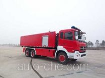 Hydraulic hooklift hoist fire truck