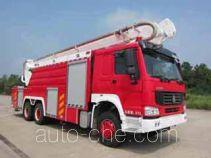 光通牌MX5310JXFJP25/HW型举高喷射消防车