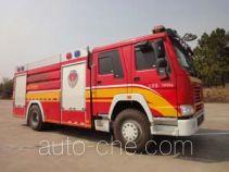 南马牌NM5190GXFPM80/ZZ型泡沫消防车