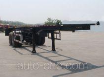 Pucheng PC9350TWY dangerous goods tank container skeletal trailer
