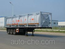 Jinbi PJQ9402GHY chemical liquid transport frame tank trailer