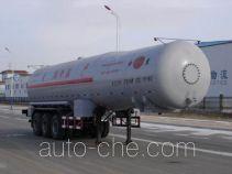 Jinbi PJQ9403GHY chemical liquid tank trailer