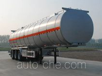 Jinbi PJQ9405GRYL flammable liquid aluminum tank trailer