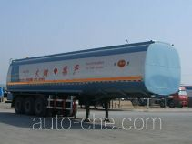 Jinbi PJQ9406GHYX chemical liquid tank trailer