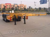 Huachang QDJ9400TWY dangerous goods tank container skeletal trailer