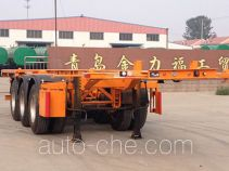Huachang QDJ9405TWY dangerous goods tank container skeletal trailer