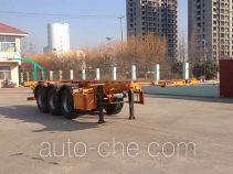 Huachang QDJ9406TWY dangerous goods tank container skeletal trailer