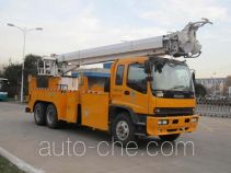 Qingte QDT5190TXGI integrated pole setting truck
