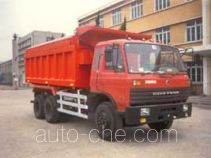 Tarp covered dump truck