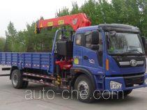 沃达特牌QHJ5160JSQA型随车起重运输车