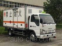 庆铃牌QL5040XRYA6HAJ型易燃液体厢式运输车