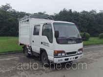 Qingling Isuzu QL5041CCY3EWRJ грузовик с решетчатым тент-каркасом