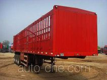旗林牌QLG9401CCY型仓栅式运输半挂车