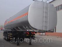 旗林牌QLG9402GYY型铝合金运油半挂车