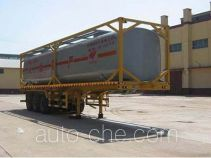 Qilin QLG9403GHYK chemical liquid transport frame tank trailer