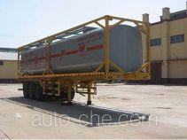 旗林牌QLG9403GHYK型框架罐式化工液体运输半挂车