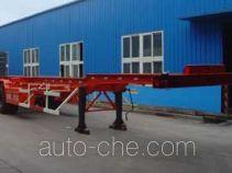 龙锐牌QW9400TJZG型集装箱运输半挂车