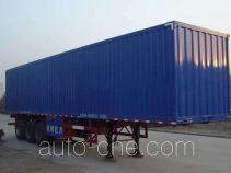 龙锐牌QW9400XXY型厢式运输半挂车