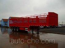 龙锐牌QW9401CLXY型仓栅式运输半挂车
