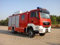 Пожарно-спасательная машина при химических авариях