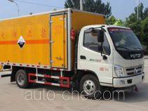 润知星牌SCS5041XFWBJ型腐蚀性物品厢式运输车