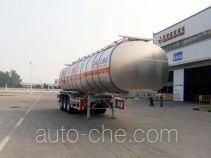 Wanshida SDW9407GRYA flammable liquid aluminum tank trailer