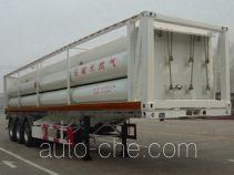 景阳岗牌SFL9400GGY型液压子站高压气体长管半挂车