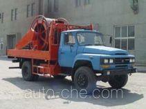 Oil well wash tubing truck