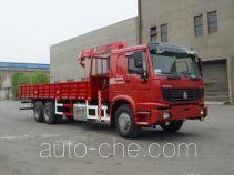 胜工牌SG5253JSQ5型随车起重运输车