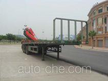Shaoye SGQ9400JSQ flatbed trailer mounted loader crane