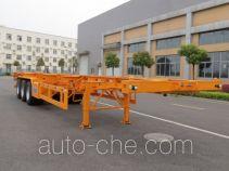 Shaoye SGQ9400TWY dangerous goods tank container skeletal trailer