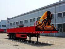 SGQZ Shaoqi SGQ9401JSQ flatbed trailer mounted loader crane