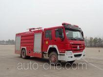 上格牌SGX5200GXFPM80/ZZ型泡沫消防车