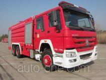 上格牌SGX5270GXFPM120/ZZ型泡沫消防车