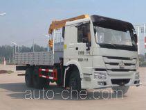 华威驰乐牌SGZ5250JSQZZ4W58型随车起重运输车