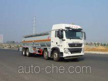 华威驰乐牌SGZ5310GFWZZ5T5型腐蚀性物品罐式运输车