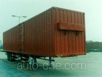 华威驰乐牌SGZ9200XXY-G型厢式运输半挂车