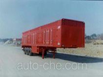 华威驰乐牌SGZ9280XXY型厢式运输半挂车
