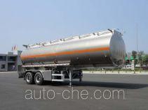 华威驰乐牌SGZ9356GYY型铝合金运油半挂车