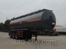 华威驰乐牌SGZ9401GFW型腐蚀性物品罐式运输半挂车