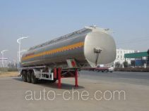 华威驰乐牌SGZ9408GYY型铝合金运油半挂车