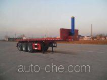 红荷北斗牌SHB9402ZZXP型平板自卸半挂车