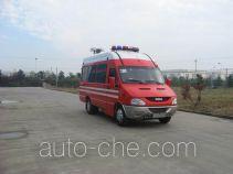 捷达消防牌SJD5041XXFTZ1000Y1型通讯指挥消防车