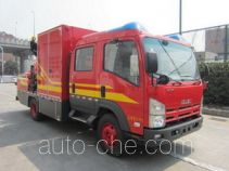 捷达消防牌SJD5090TXFBP200/W型泵浦消防车