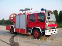 捷达消防牌SJD5100TXFPZ75W型排烟照明消防车