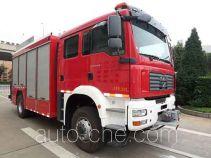 捷达消防牌SJD5140TXFJY100M型抢险救援消防车
